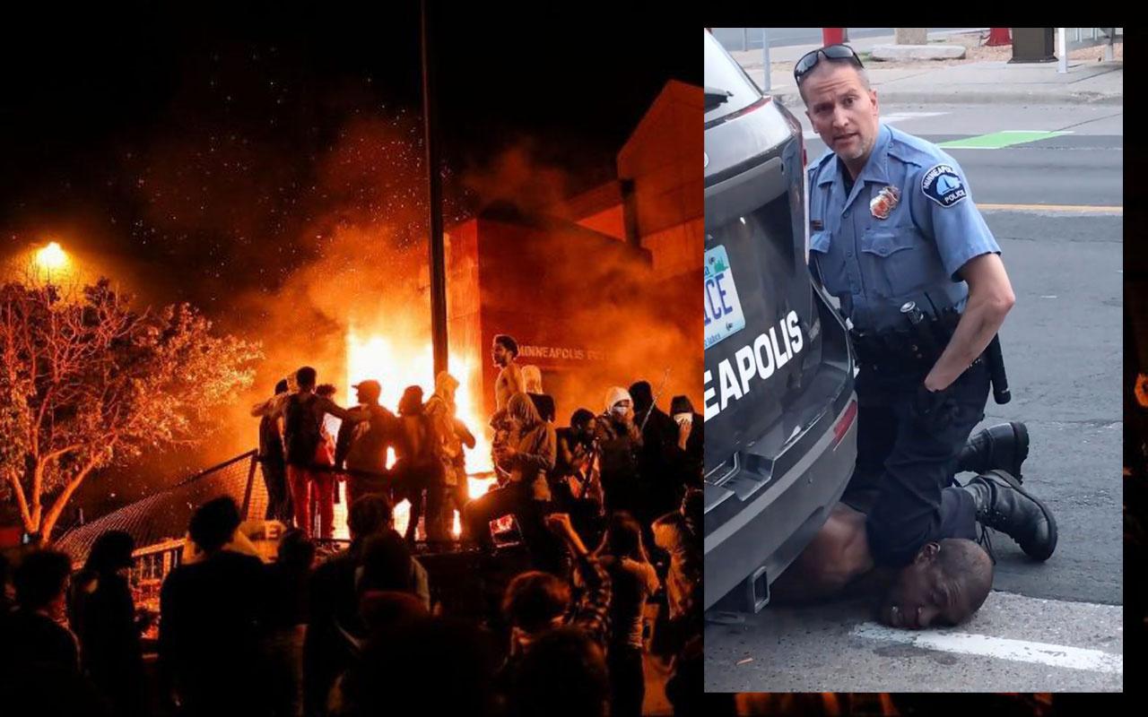 ABD'de George Floyd isyanı büyüyor! Göstericiler polis merkezini ateşe verdi