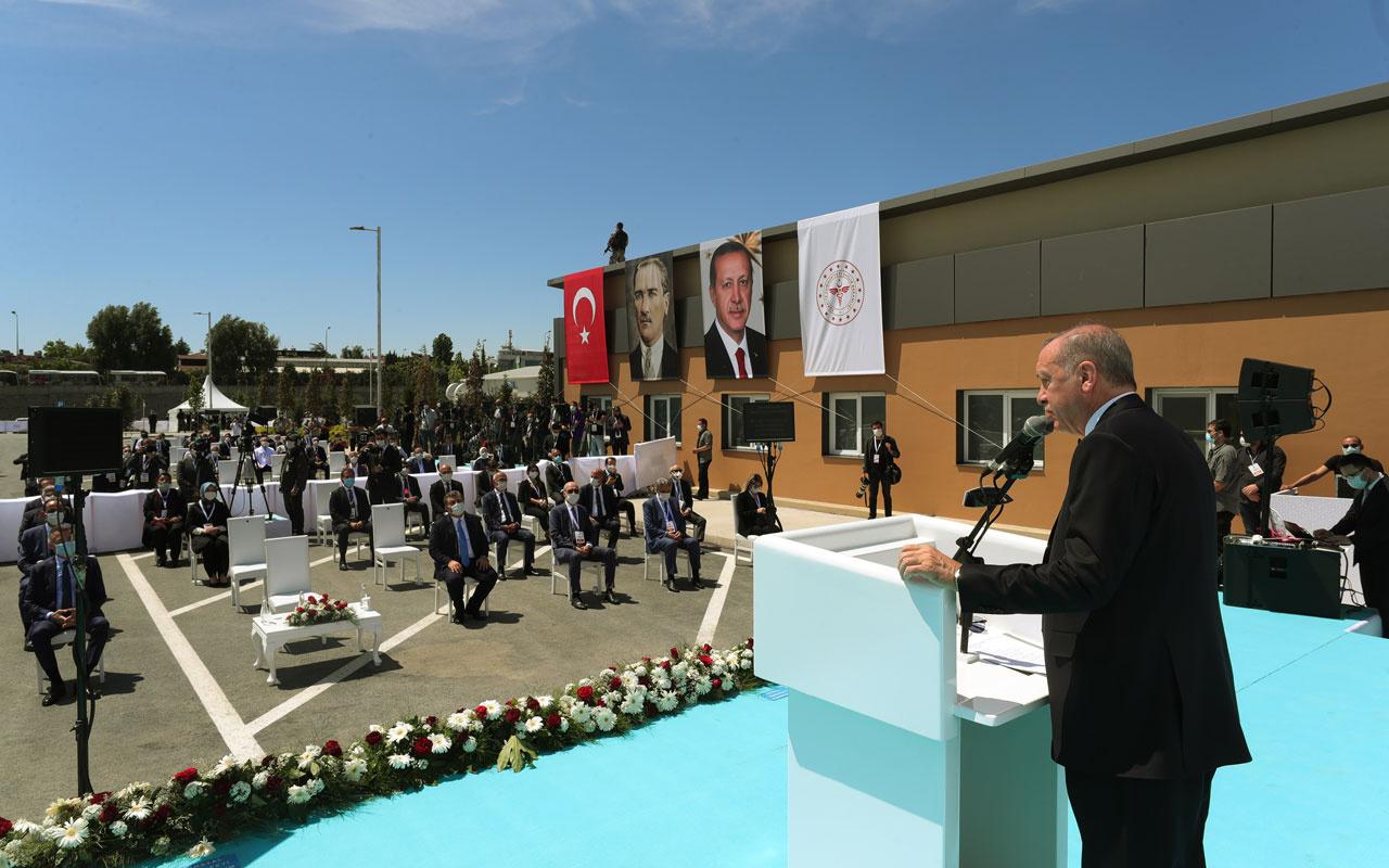 Atatürk Havaalanı'nda yapılan salgın hastanesi açıldı! Erdoğan'dan flaş mesajlar