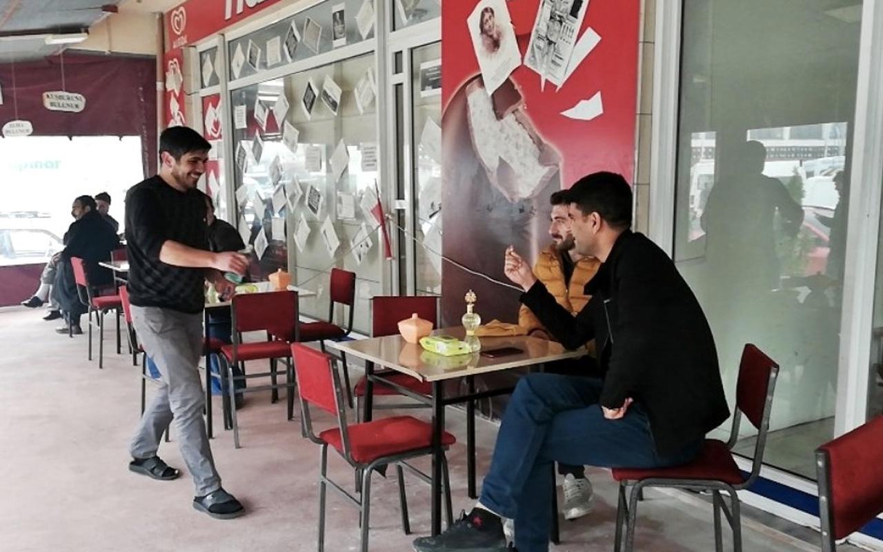 Kahvehanelerde çay karton bardakla mı içilecek?