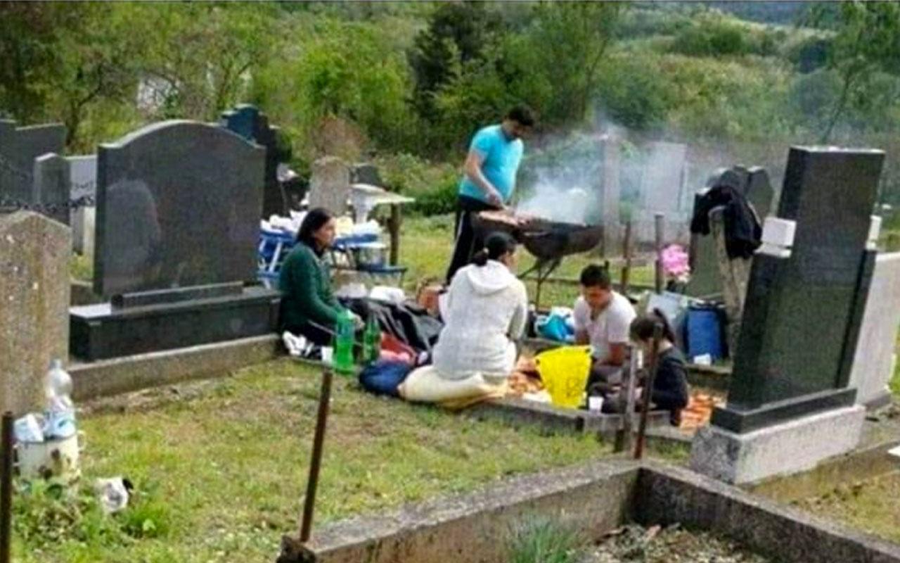 Almanya'da Türklere çirkin iftira mezarlıkta mangal fotoğrafı olay oldu!