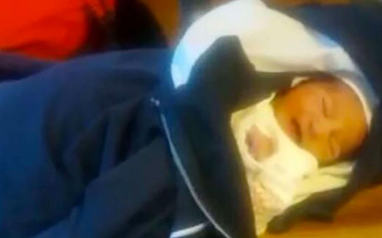 Afyonkarahisar'da 3 günlük bebeği alüminyum folyoya sarıp sokağa bıraktılar