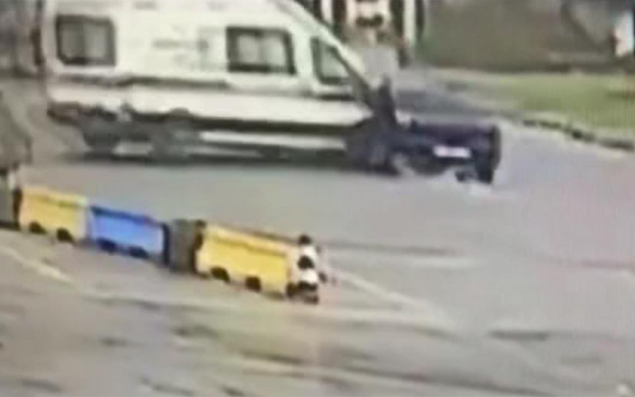 Zonguldak'ta güvenlik görevlisinin öldüğü kaza anı kamerada