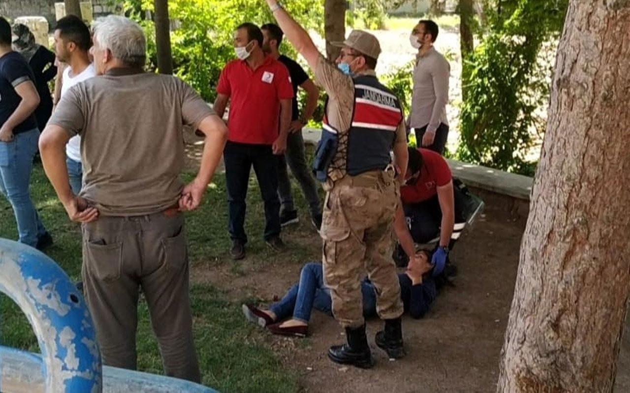 Elazığ'da güzel tesadüf! Kadını döven şahıs yoldan geçen jandarmaya yakalandı