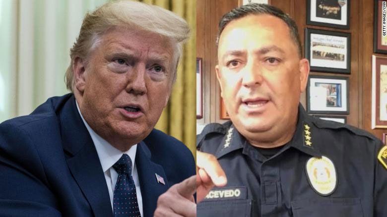 Houston Emniyet Müdürü'nden ABD Başkanı Trump'a: Kapa çeneni...