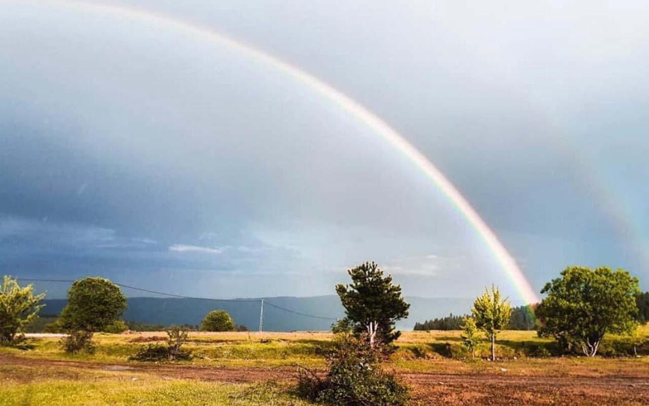 Sinop'ta rengarenk gökkuşağı görenleri hayran bıraktı