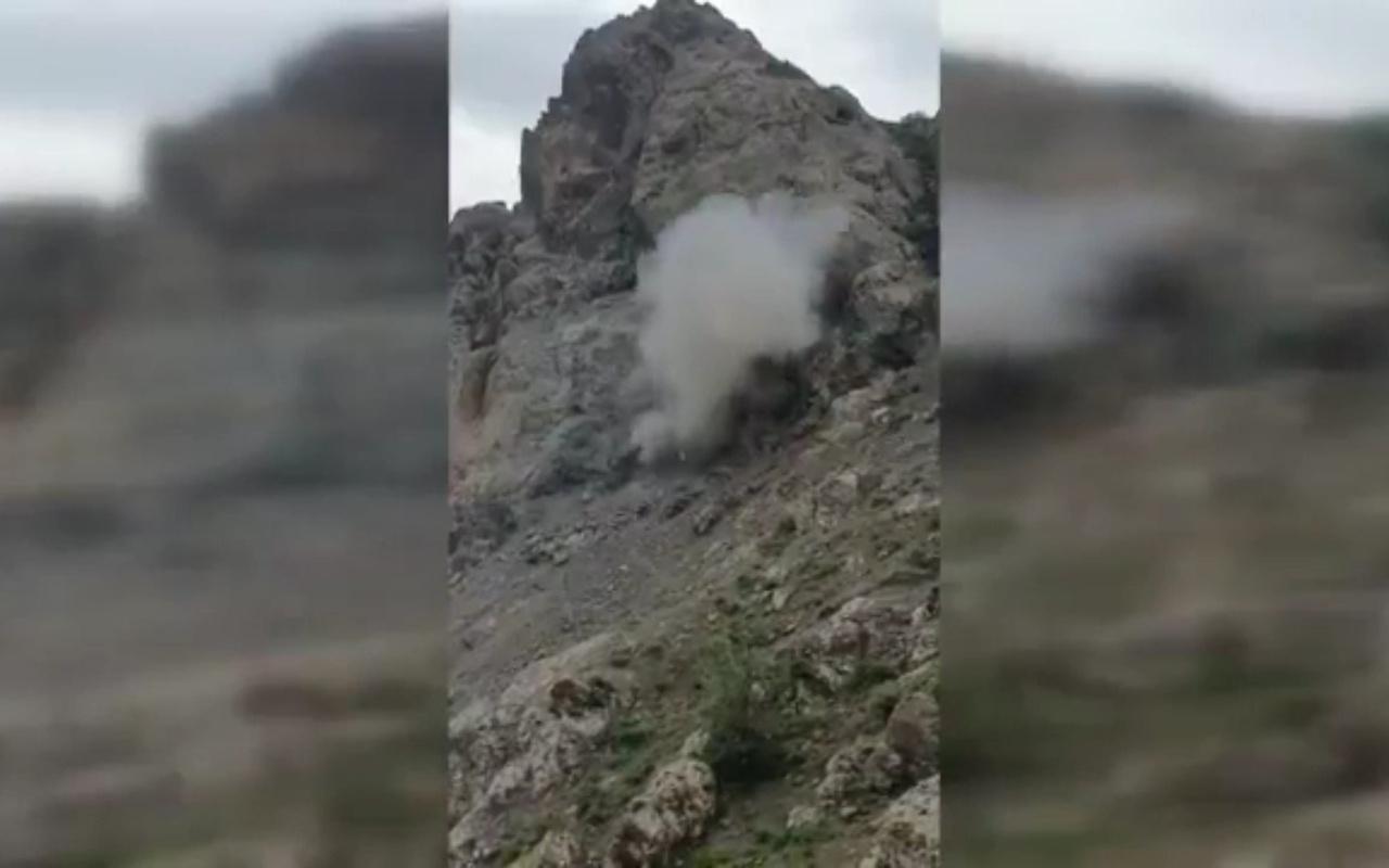 MSB bu görüntülerle duyurdu PKK'nın bir ini daha yok edildi