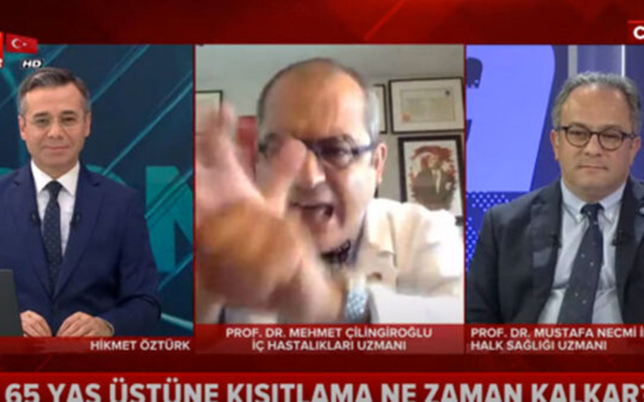 Prof. Mehmet Çilingiroğlu'nun canlı yayında el hareketi herkesi şoke etti