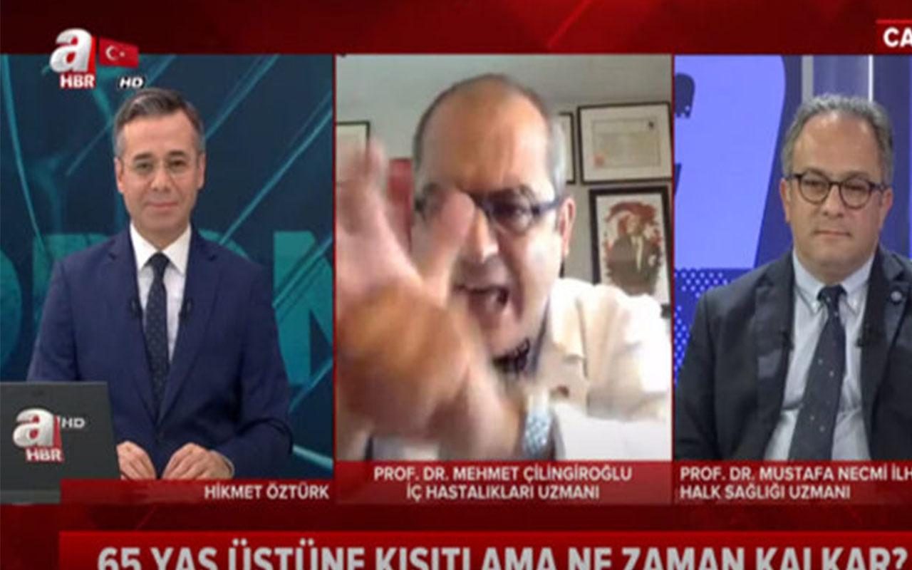 A Haber canlı yayınında Prof. Dr. Mehmet Çilingiroğlu'ndan olay hareket