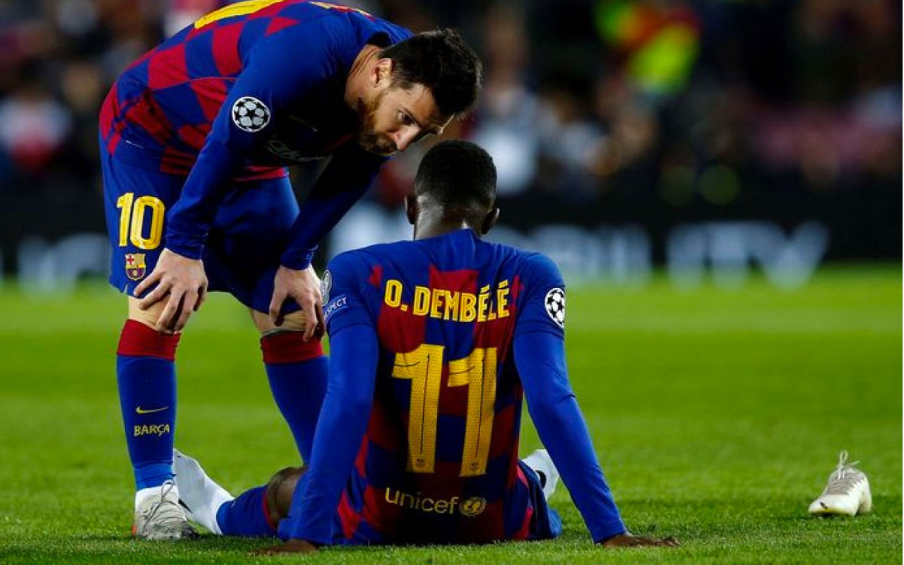 Barcelona, müzmin sakat Dembele'yi gönderiyor