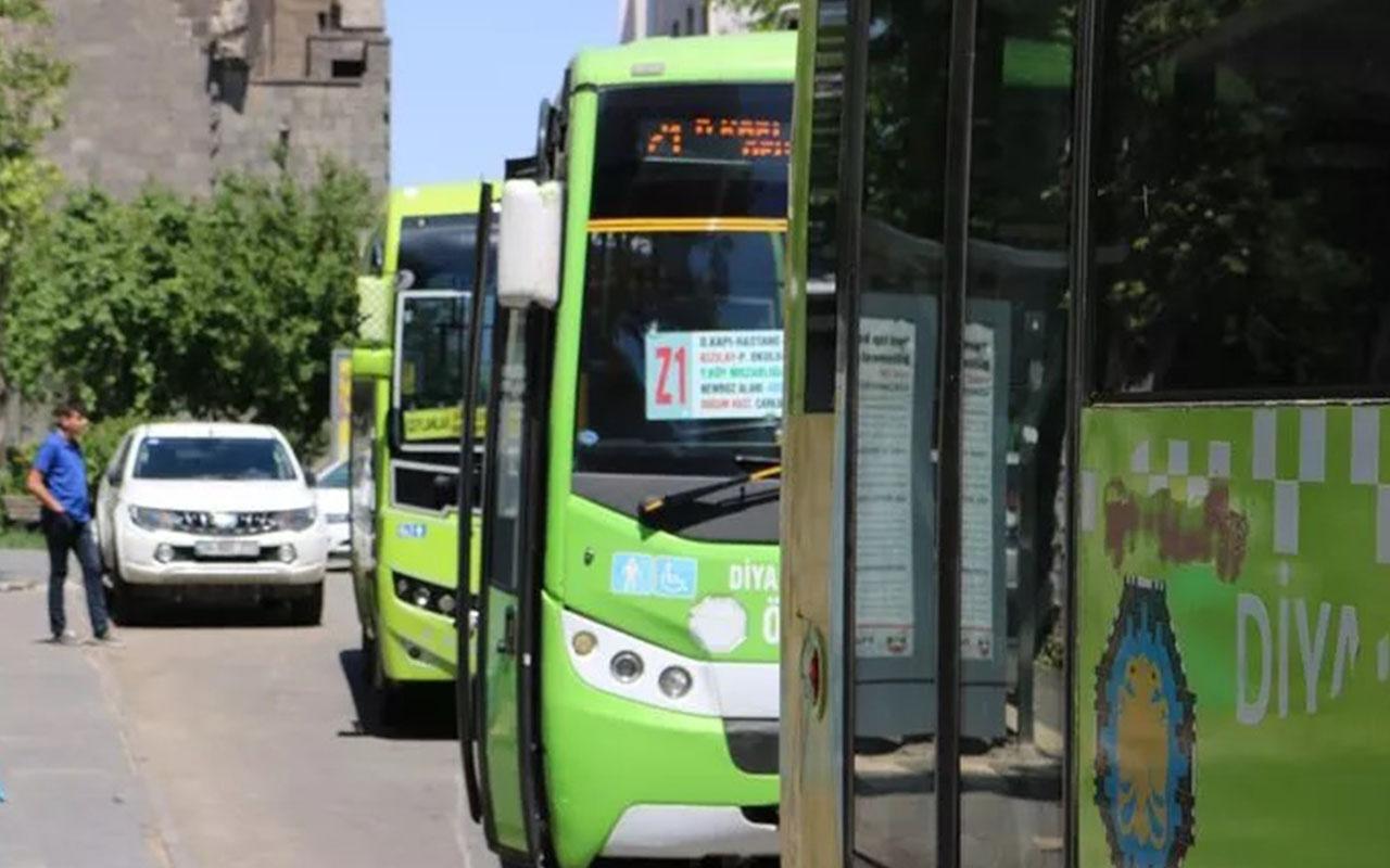 Diyarbakır'da halk otobüsü şoförünün testi pozitif
