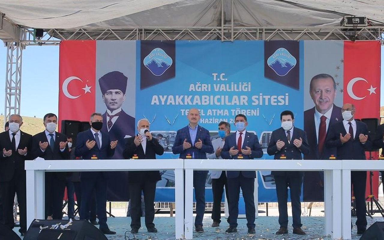 Ağrı'da açılışa katılan İçişleri Bakanı Süleyman Soylu: Terörün üzerine harç döküyoruz