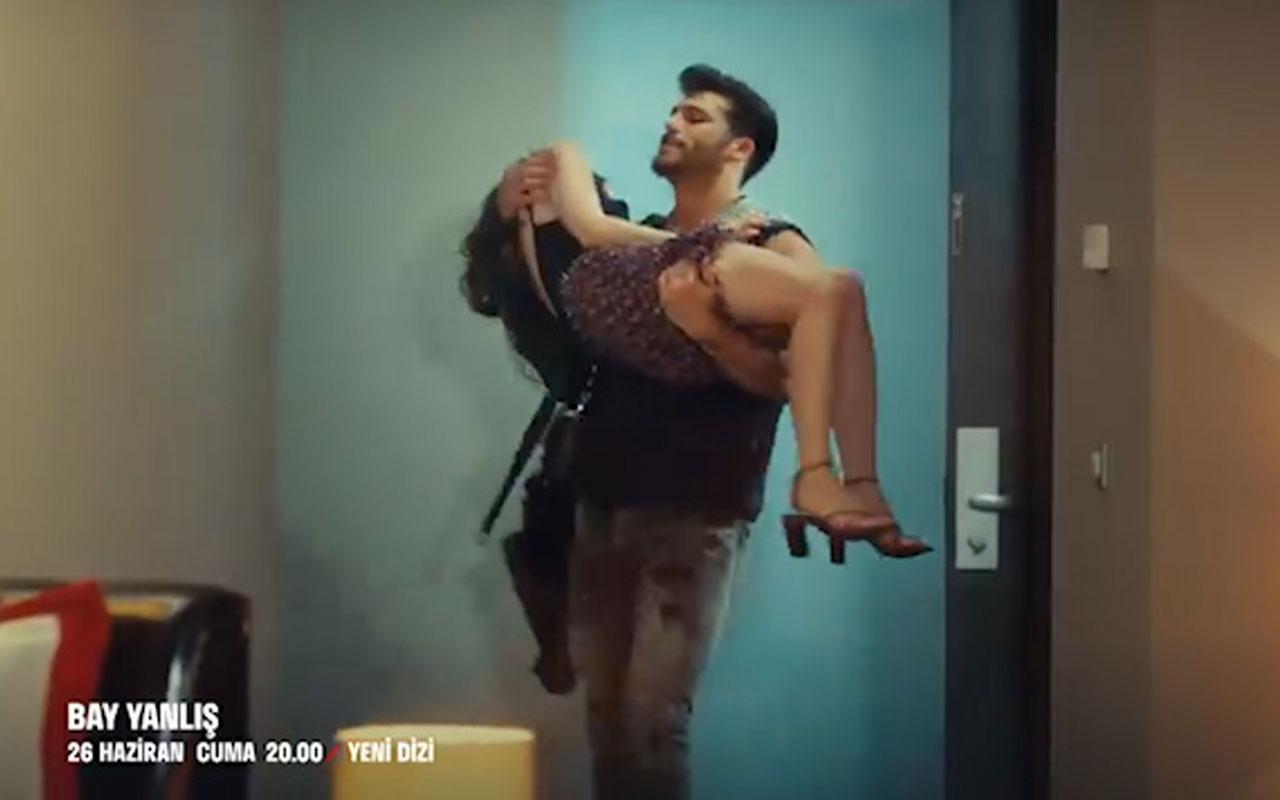 FOX TV'de Can Yaman Özge Gürel dizisi Bay Yanlış'a öpüşme sahnesi olay oldu