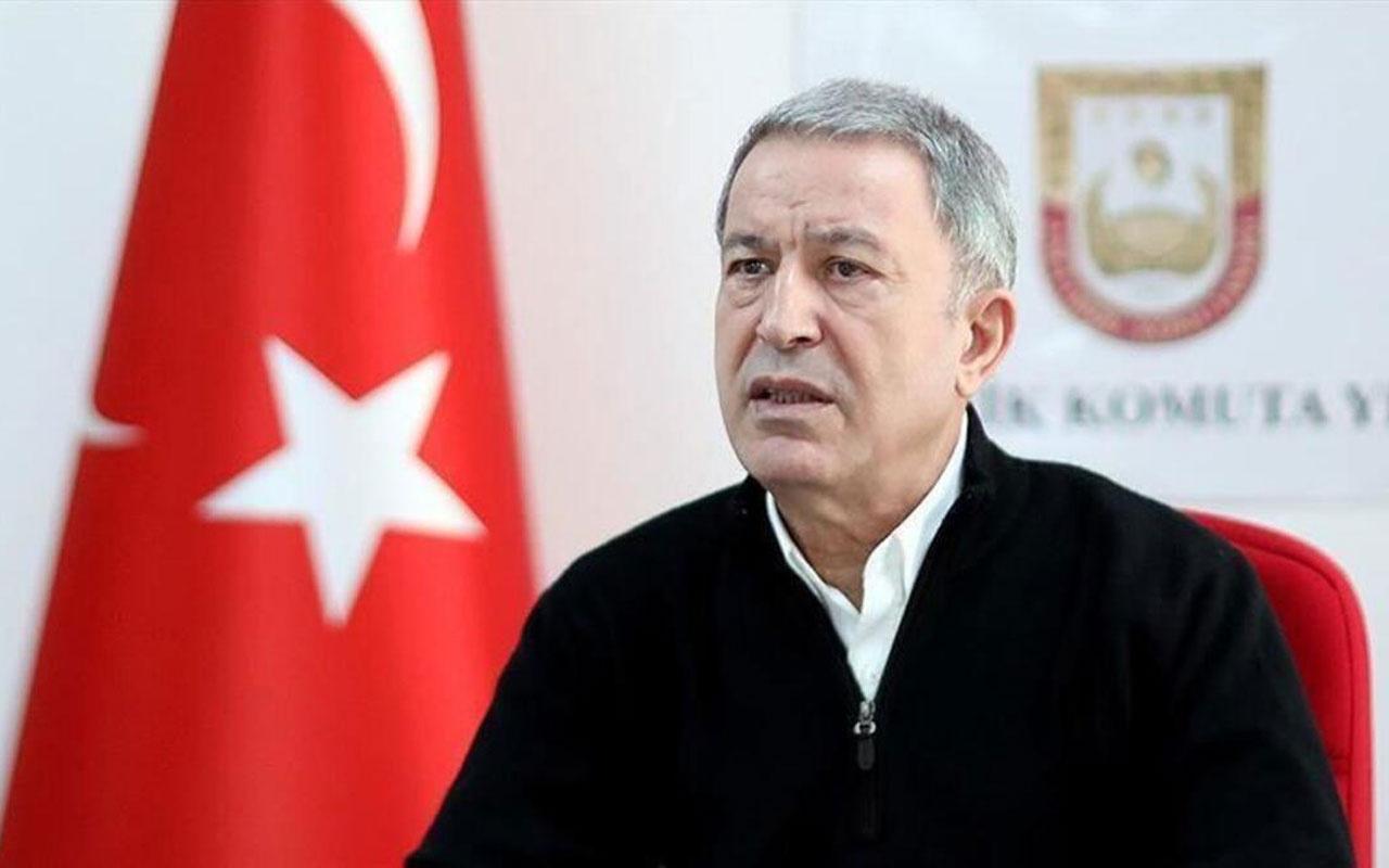 Bakan Hulusi Akar'dan KKTC Cumhurbaşkanı olan Ersin Tatar'a tebrik mesajı