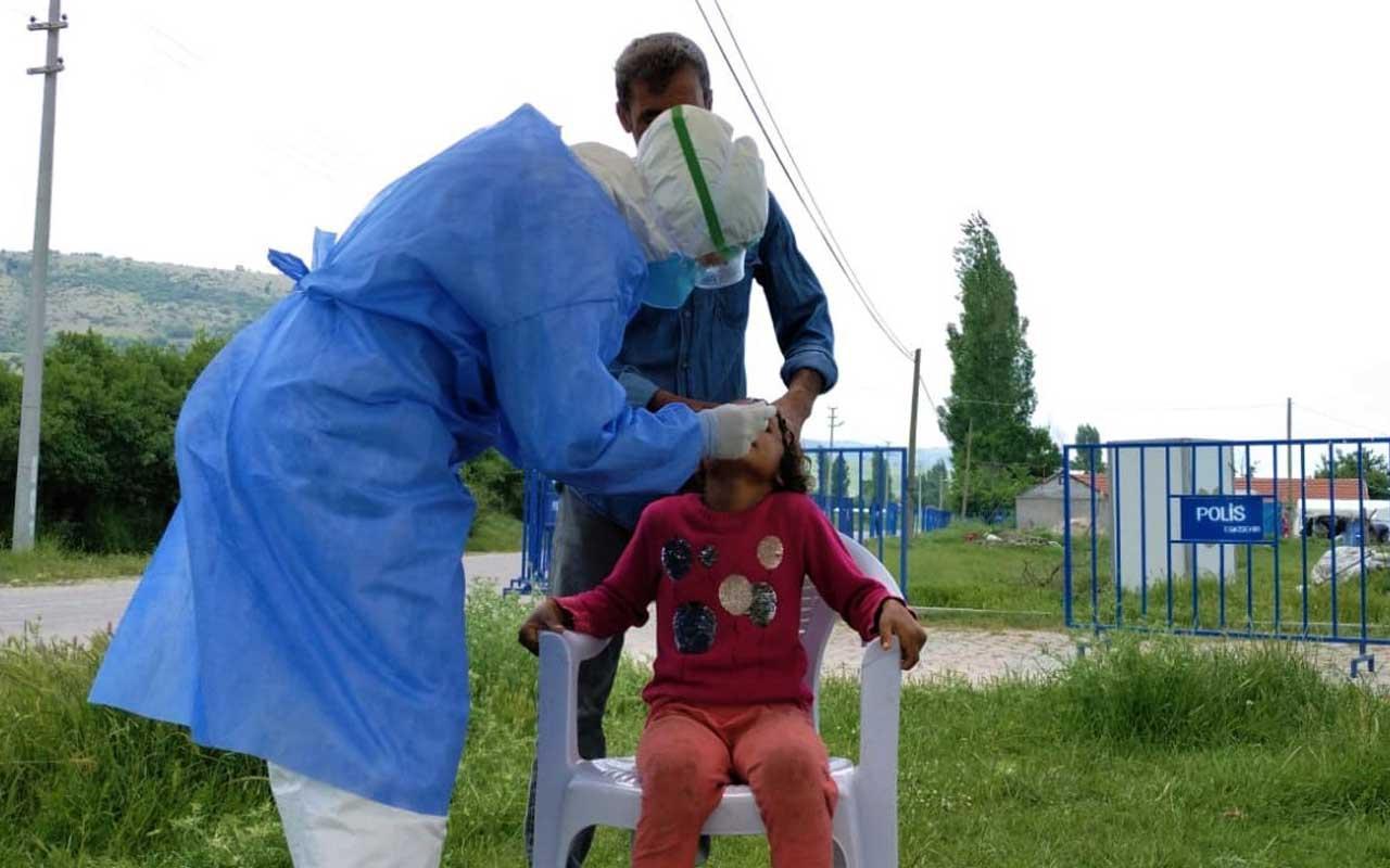 Eskişehir'de 200 nüfuslu çadır kent karantinaya alındı vaka 4 yaşında