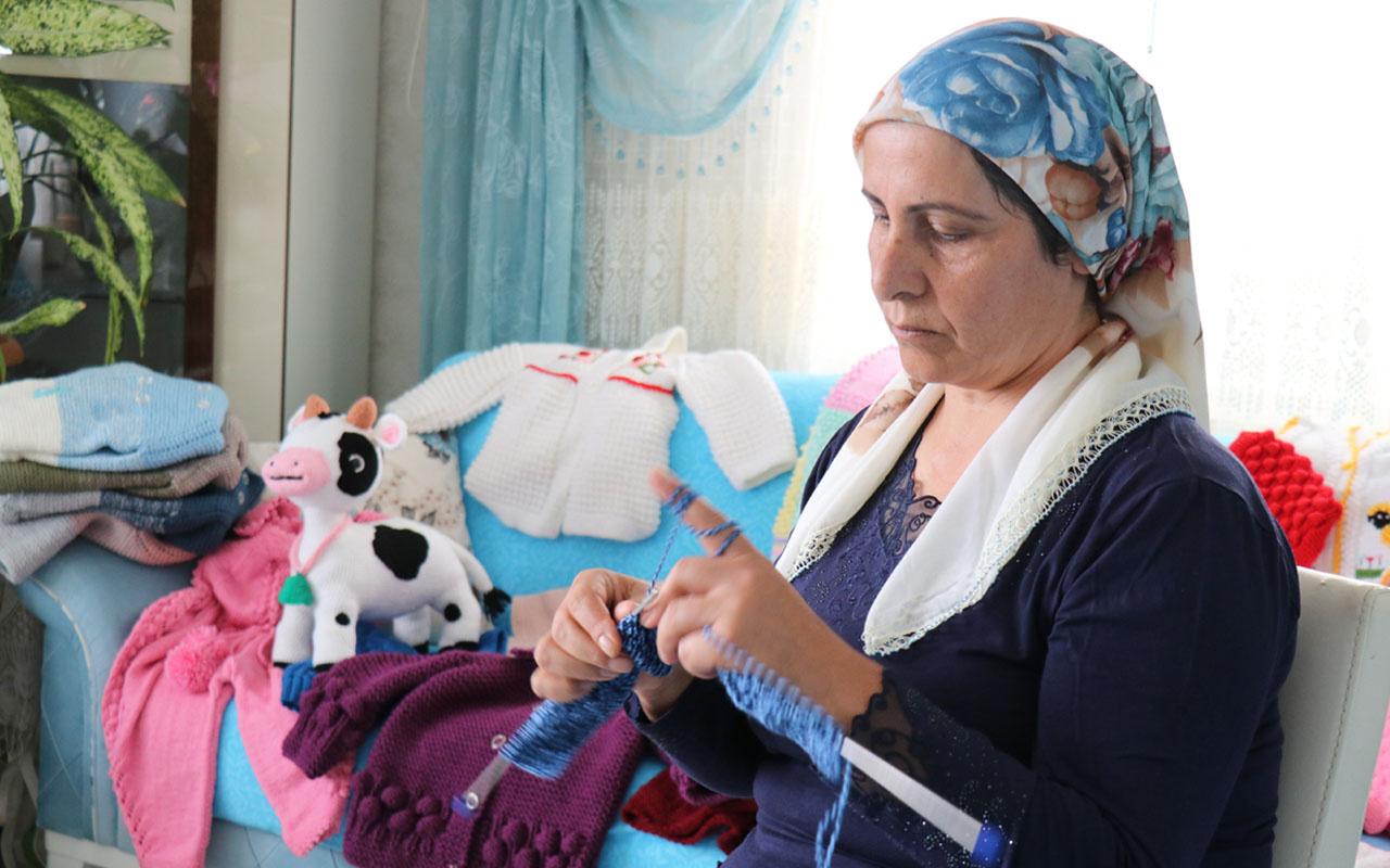 Kırşehir'de 4 canını kanserden kaybetti şimdi lösemili çocuklar için örüyor