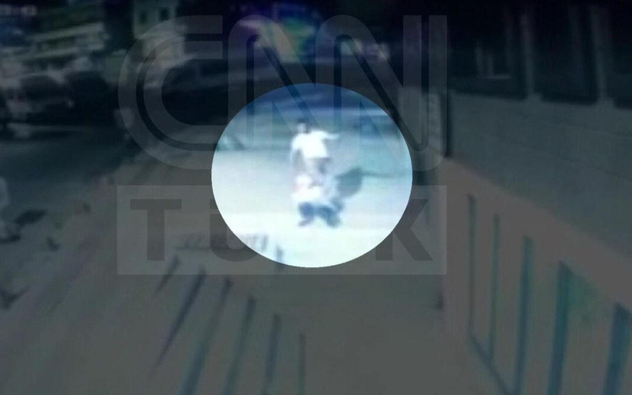 Kadın güvenlik görevlisine taşlı saldırı saniye saniye kamerada