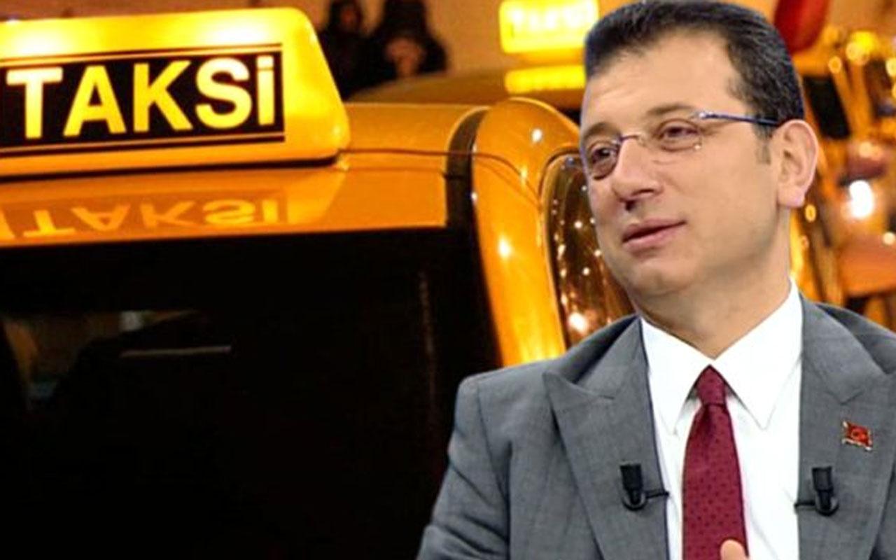 Ekrem İmamoğlu'ndan 'taksi projesi' tepkisi: Umurumda değil