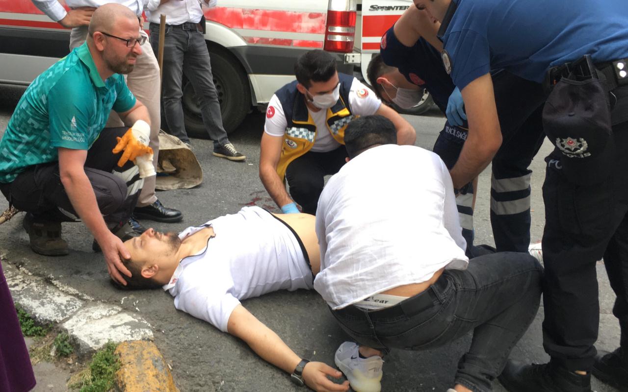 Beyoğlu'nda bıçaklı saldırgan dehşeti