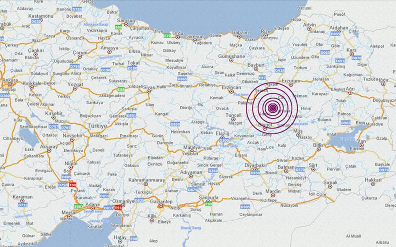 Bingöl Karlıova'da 5.7 büyüklüğünde deprem