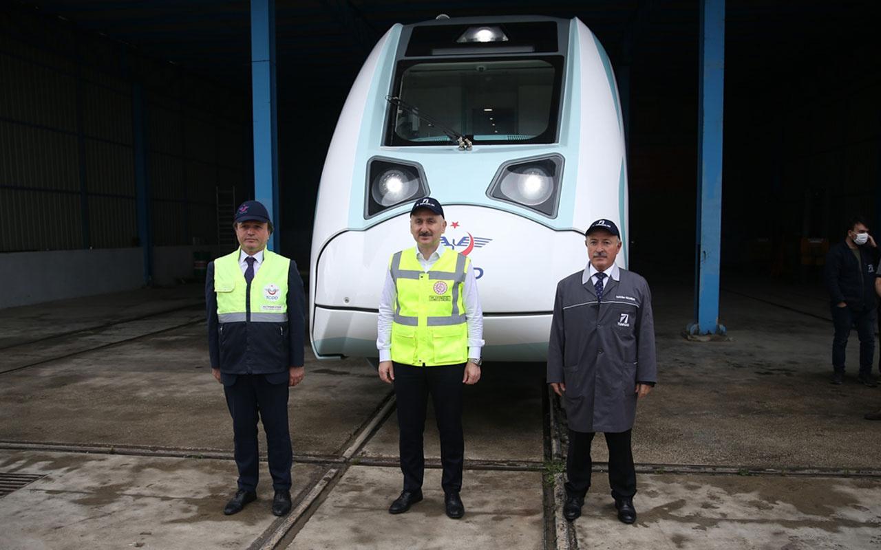 Ulaştırma Bakanı Adil Karaismailoğlu yerli ve milli elektrikli trenle ilgili müjdeyi verdi