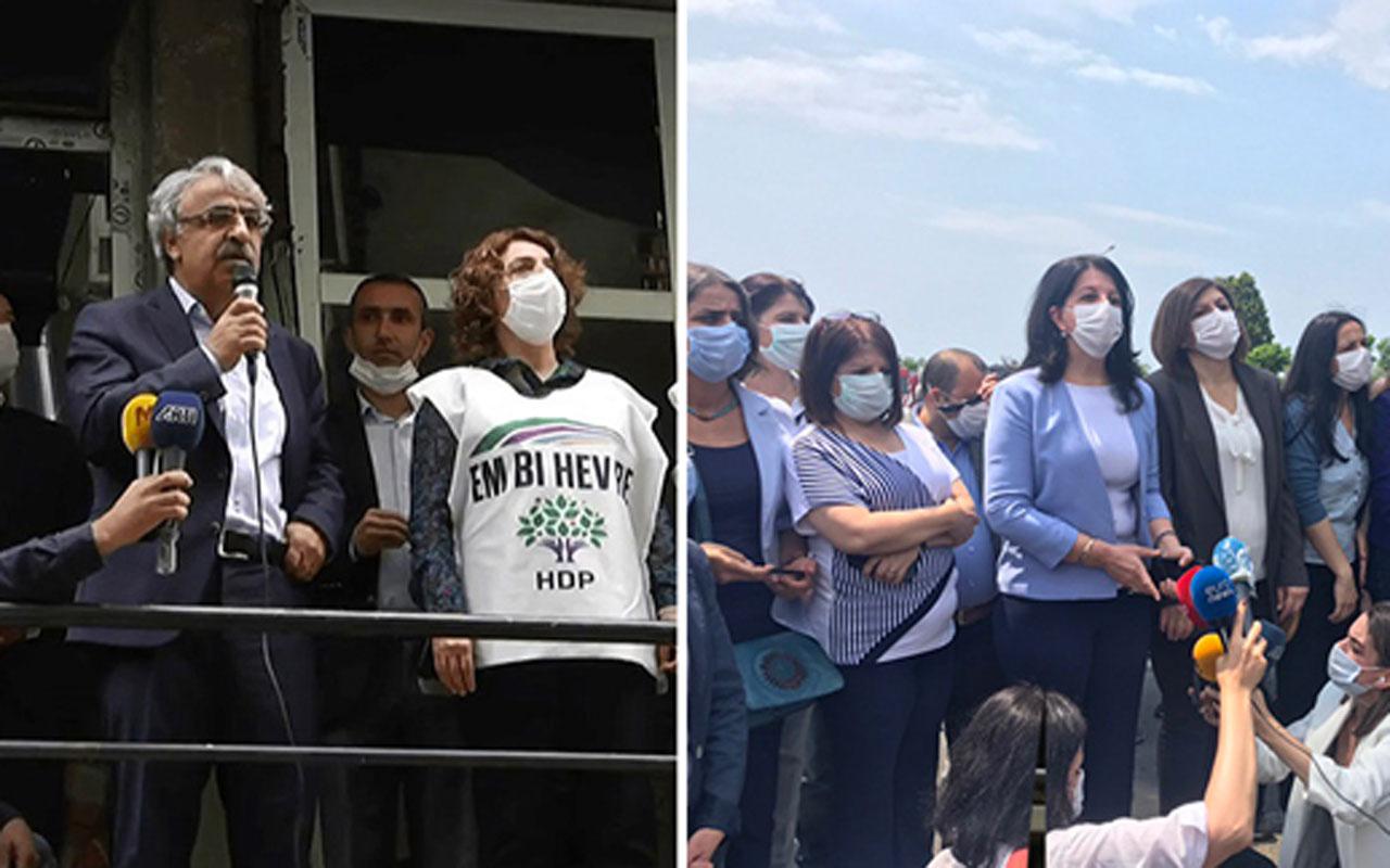 HDP'nin Darbeye Karşı Demokrasi Yürüyüşü'nde ortalık fena karıştı