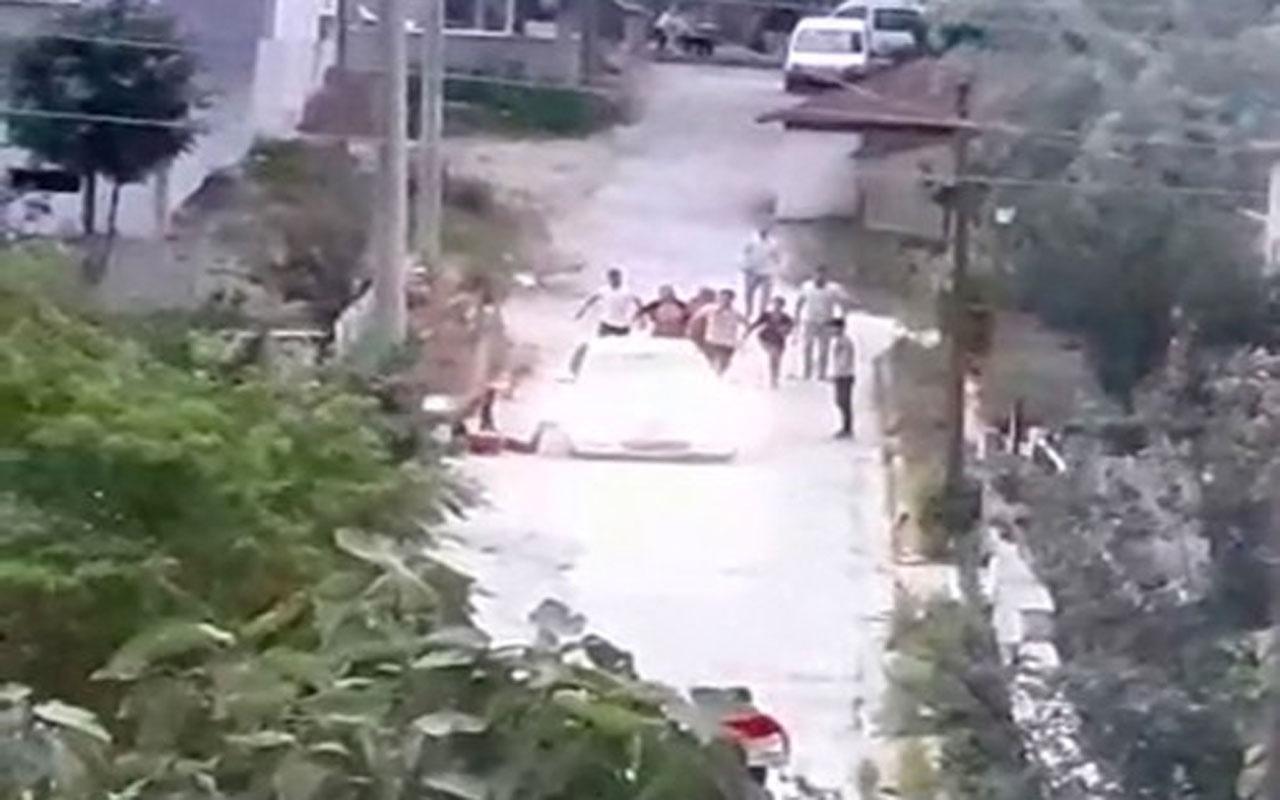 Tekirdağ'da korkunç görüntüler: Kavgaya otomobil de karıştı