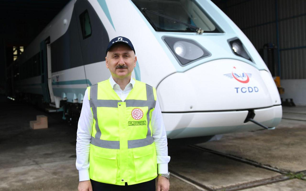 Ulaştırma Bakanı Adil Karaismailoğlu milli elektrikli tren testi için tarih verdi