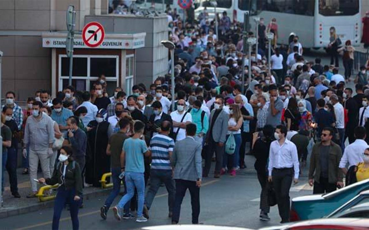 İstanbul Çağlayan Adliyesi'nde şok görüntü! Bugün her adliye böyle