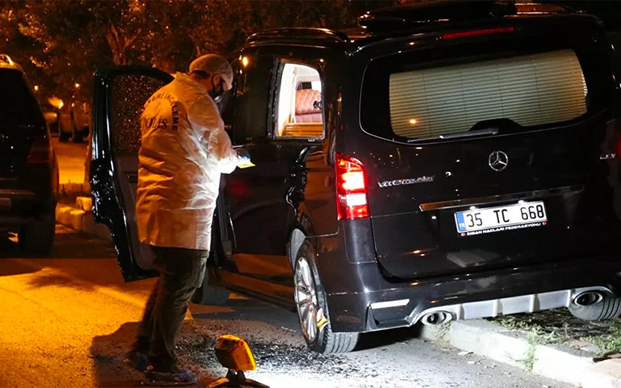 İzmir'de İnsan Hakları Federasyonu Başkanı Eligül'ün aracına silahlı saldırı