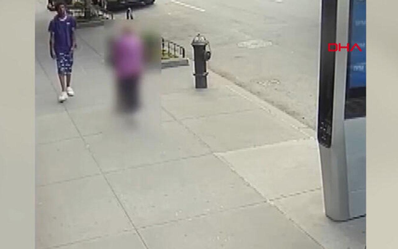 ABD'de 92 yaşındaki kadına saldırı anı kamerada