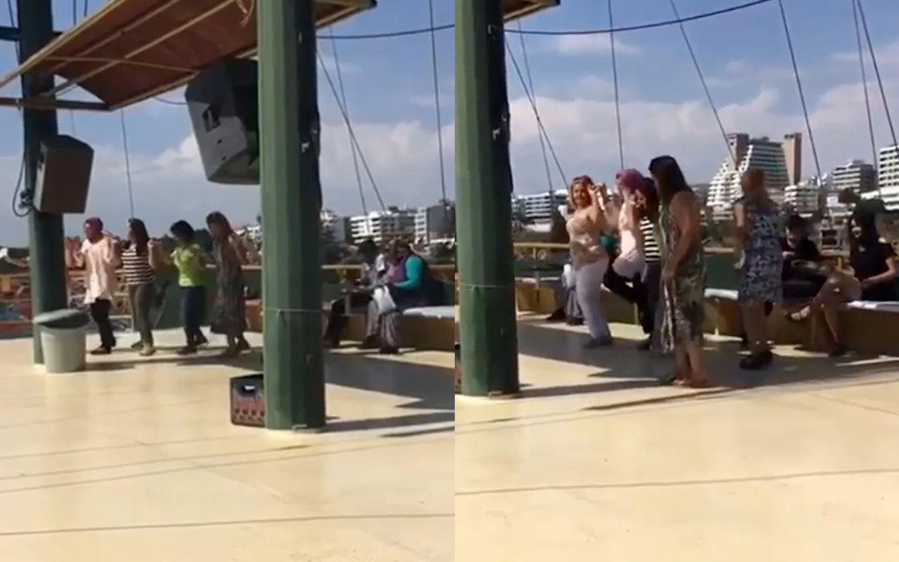 Tekne turundaki kadınlardan 'Pes' dedirten görüntüler