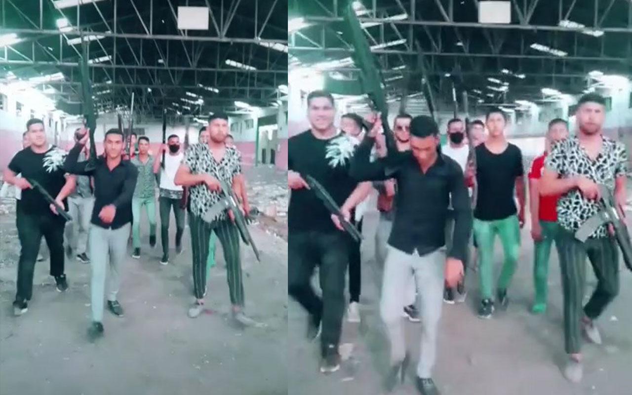 Pompalı tüfeklerle video çekip sosyal medyadan paylaştılar