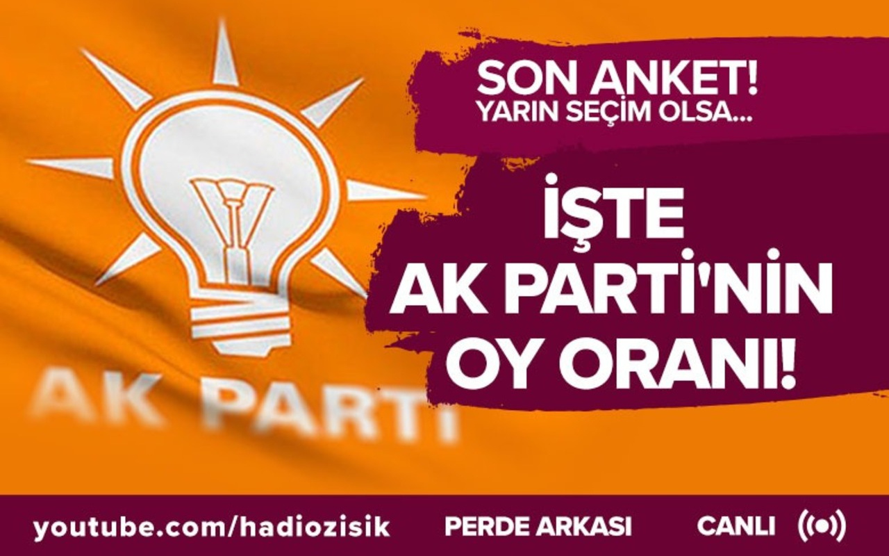 Son anket, yarın seçim olsa... İşte Ak Parti'nin oy oranı!