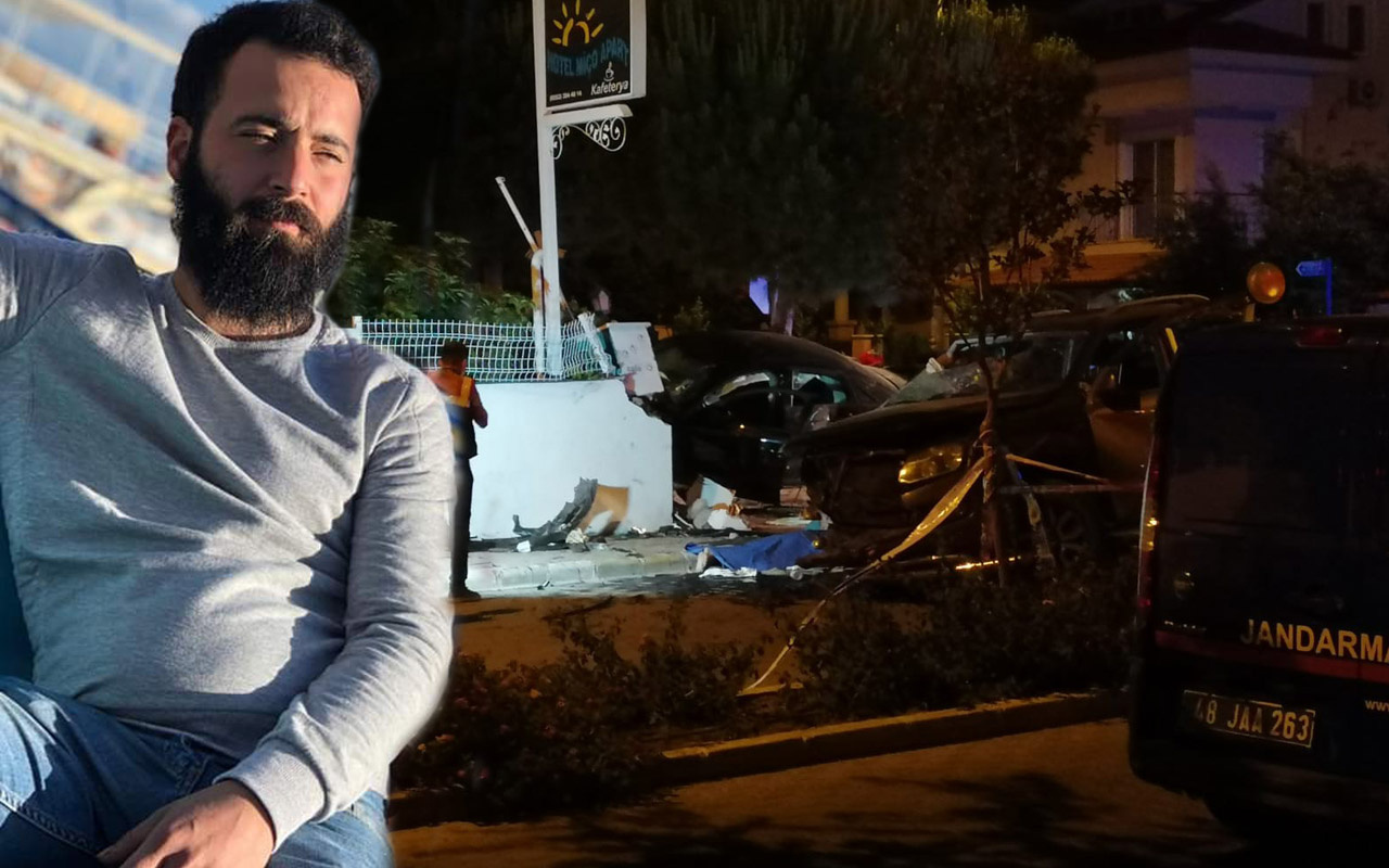 Muğla'da feci kaza: 1 kişi araçtan fırladı