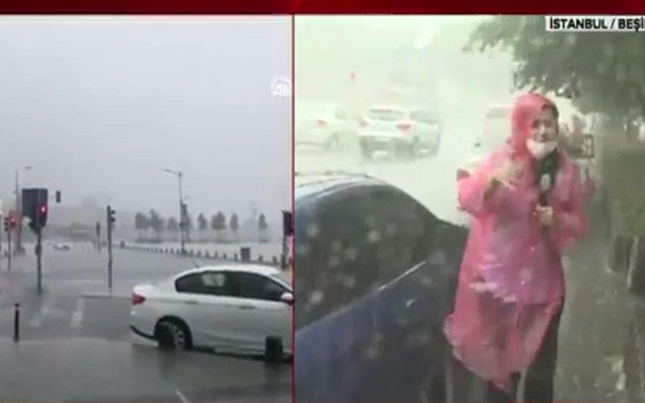 İstanbul bugün felaketi yaşadı! A Haber muhabiri canlı yayında yaralandı