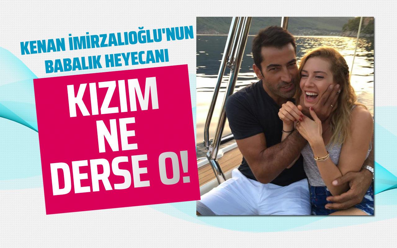 Sinem Kobal'la evli olan Kenan İmirzalıoğlu'nun babalık heyecanı