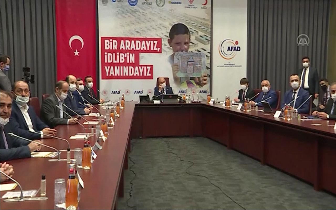 Bakan Süleyman Soylu İdlib için toplanan para miktarını duyurdu