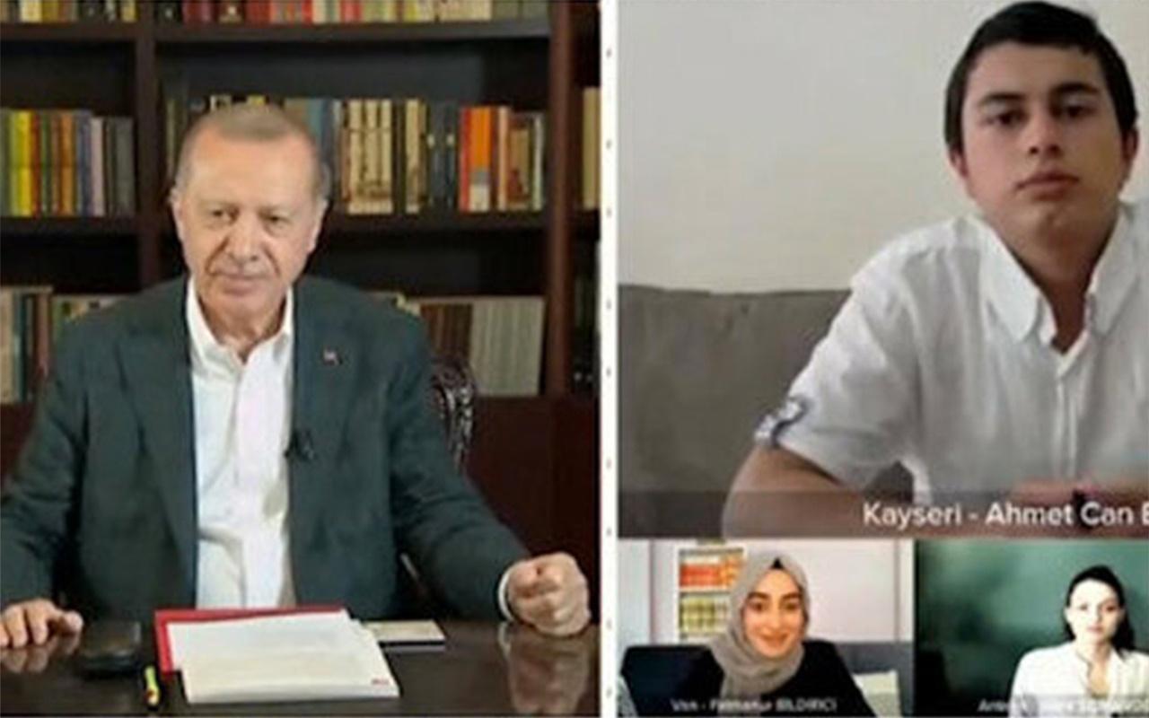 Erdoğan 'YKS' spekülasyonlarına tepki gösterdi! Gençlerle beraber türkü söyledi
