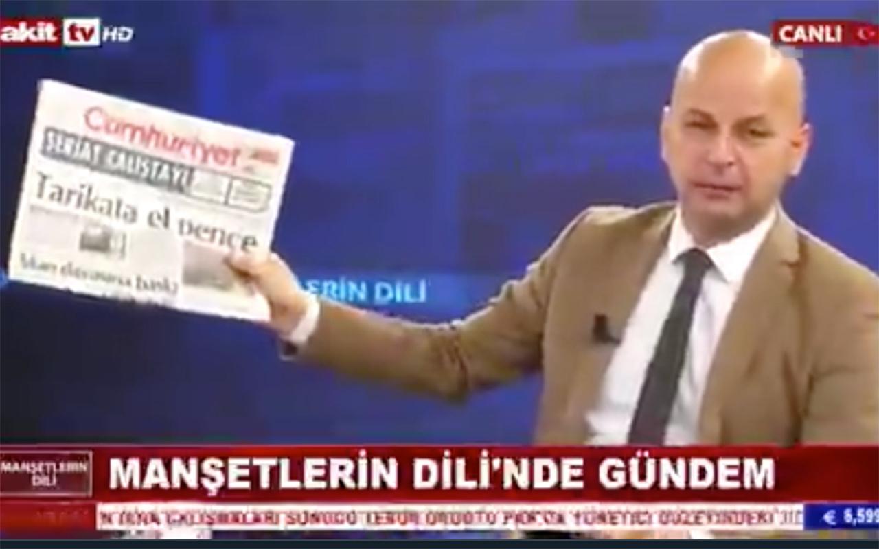 'Cumhuriyet gazetesine bomba atalım' diyen Akit TV sunucusuna 5 yıl hapis istendi