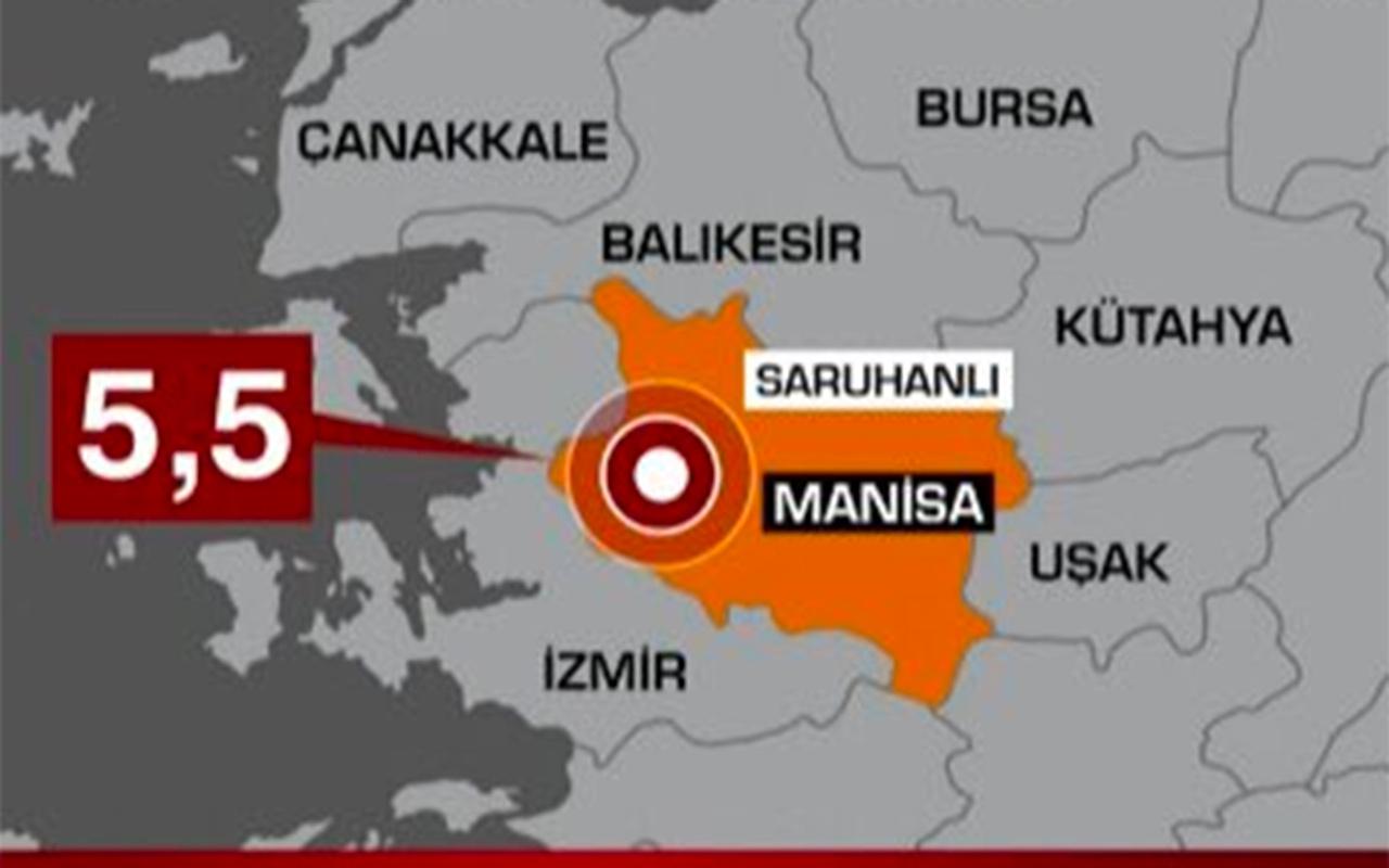 Manisa'da deprem oldu! Çevre iller de sallandı en son depremler