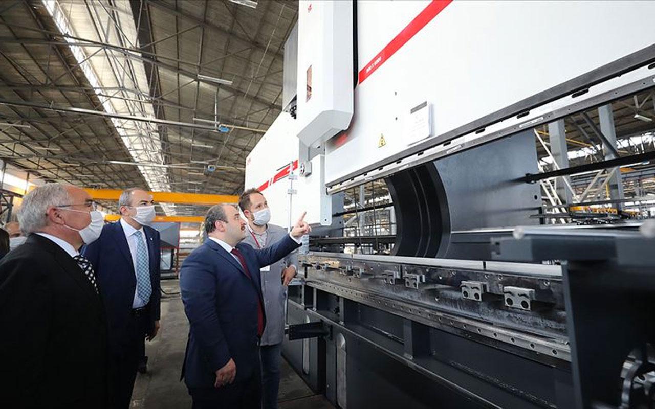 Bakan Mustafa Varank 5 kıtada 86 ülkeye ihracat yapan Dener Makina'yı ziyaret etti