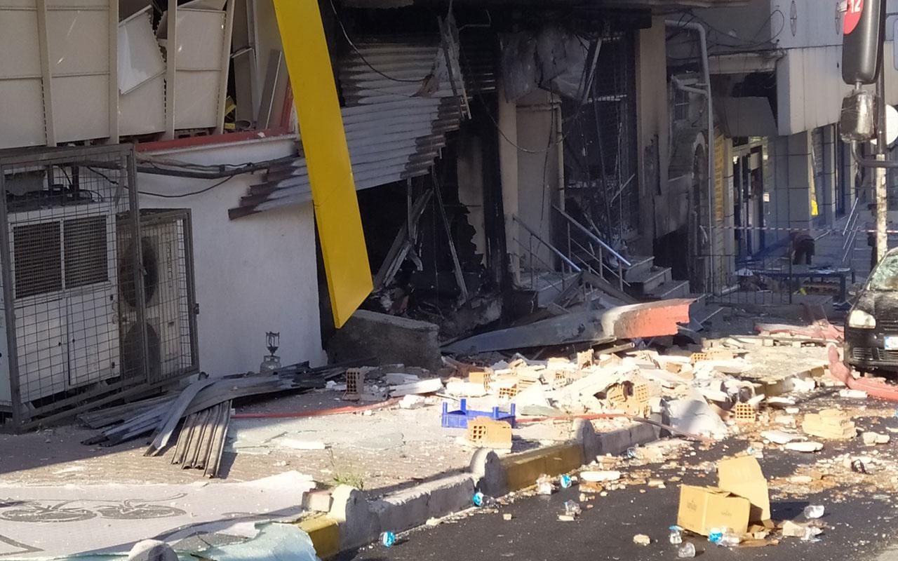 Bahçelievler'de patlamanın ardından yaşanılan panik anları kamerada