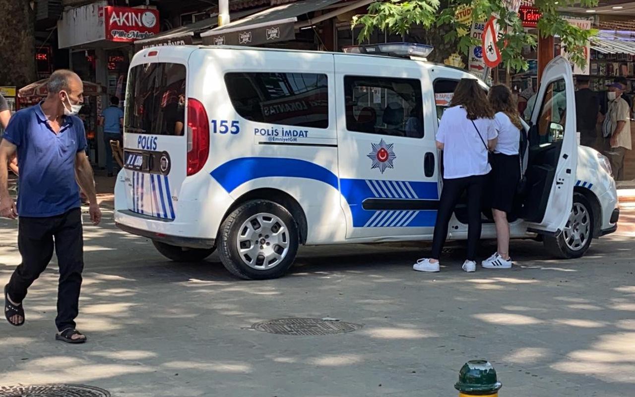 Bursa'da maske takmayan genç kız polisin denetimine takıldı