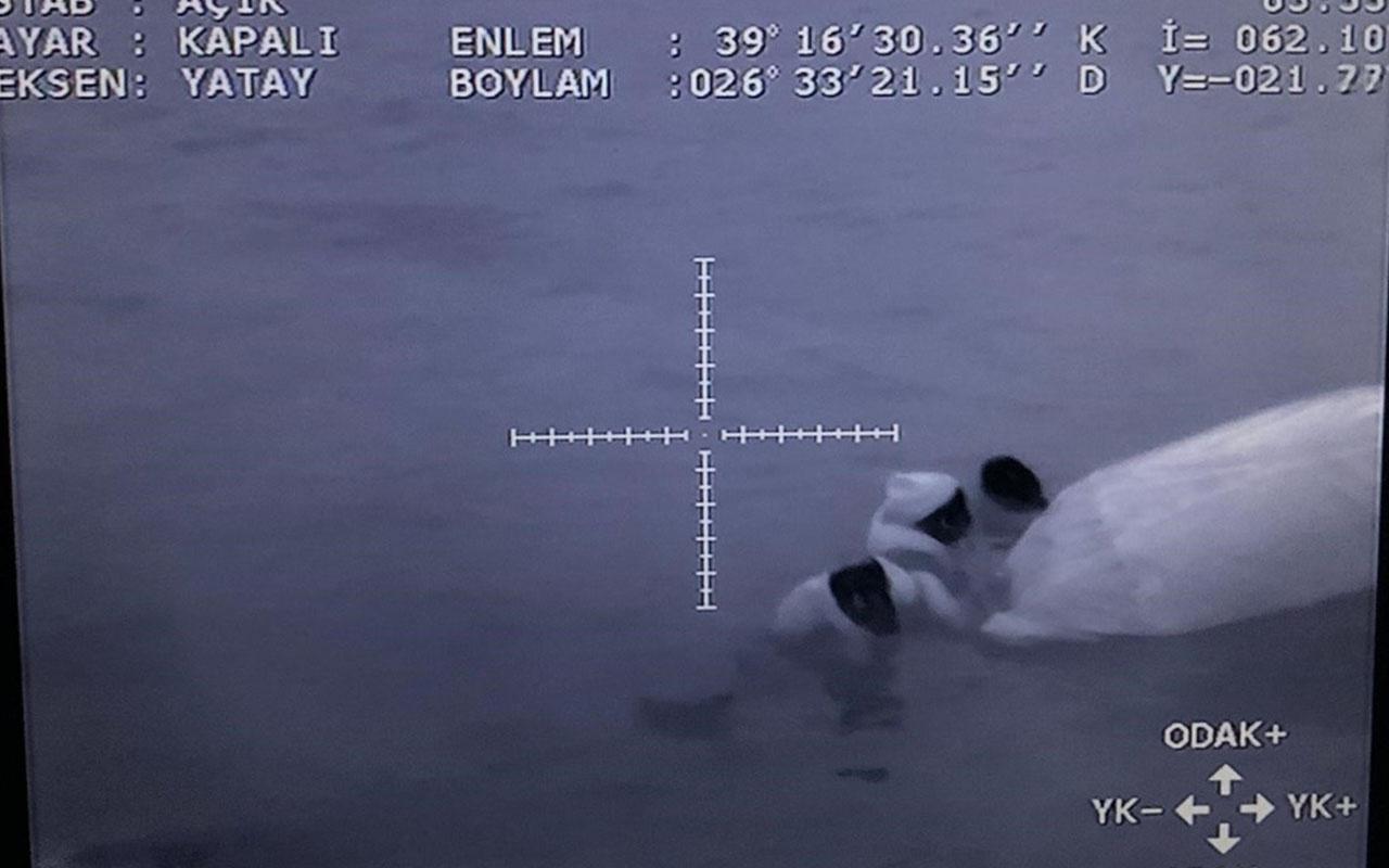 Balıkesir'in Ayvalık ilçesi açıklarında sığınmacıları taşıyan bot battı