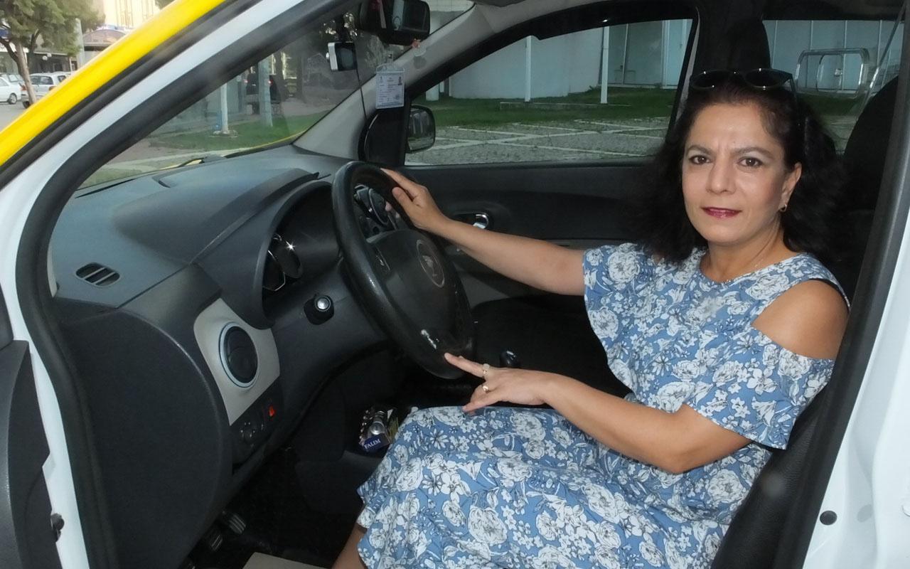 Balıkesir'in ilk kadın taksicisi oldu o Türk filmini hatırlattı