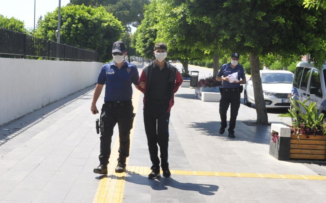 Antalya'da açık pencere hırsızı yakalandı