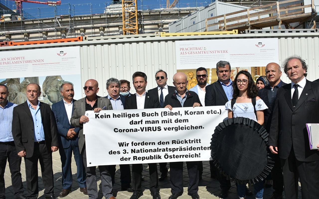 Avusturya'da Türk STK'lerden 'Kur'an koronadan daha tehlikeli' diyen aşırı sağcı lidere istifa çağrısı