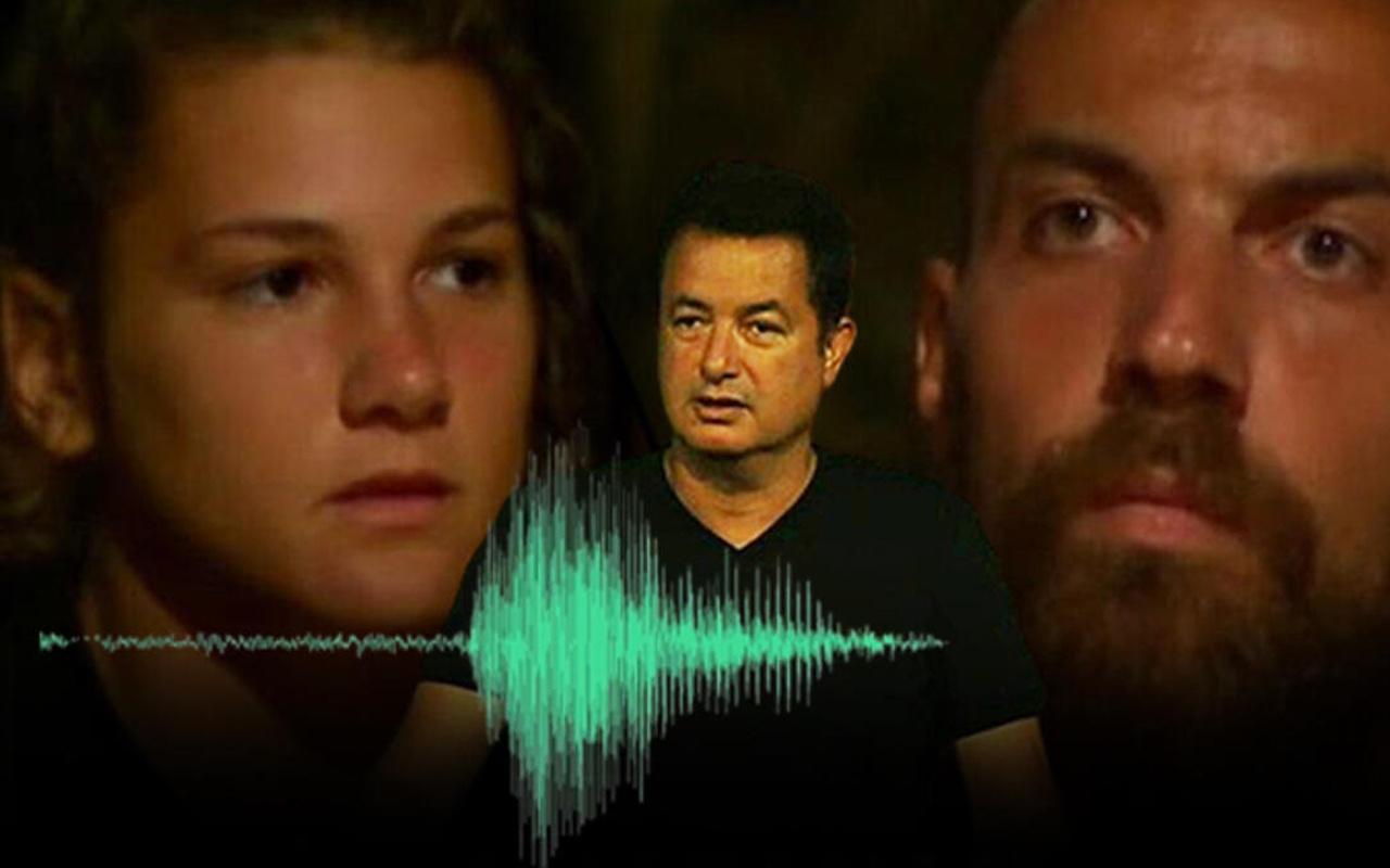 Survivor'da Sercan - Nisa ses kaydı herkesi ekrana kilitledi
