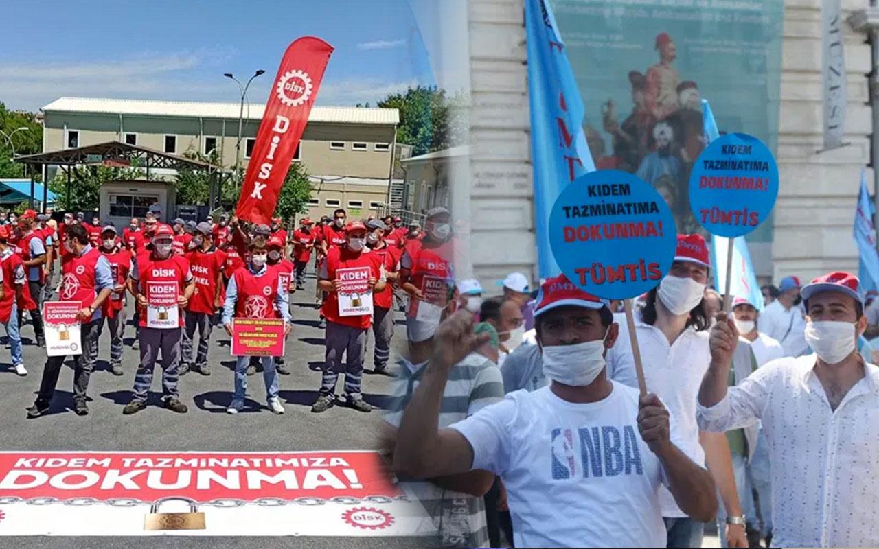 Türk-İş ve DİSK yeni kıdem tazminatına yönelik eylem sürecini başlattı