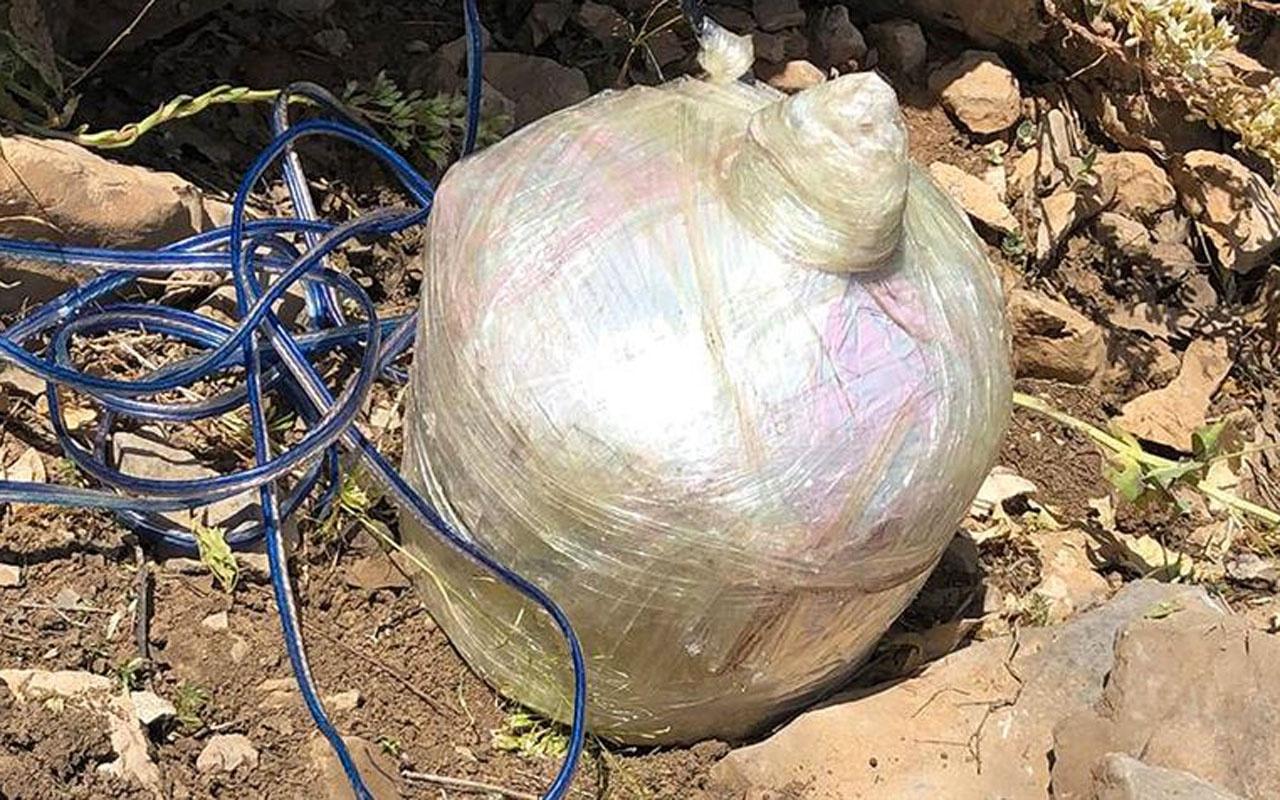 Tunceli'de terör örgütüne ait patlayıcı ve mühimmat ele geçirildi